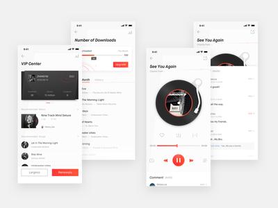 Music VIP Center Redesign