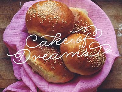 Cake of Dreams buns baking type rolling pen logo