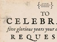 Five glorious years