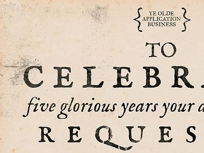 Five glorious years dirtbag invite texture im fell type