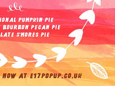 Pop up pop up steedicons pie watercolour autumn