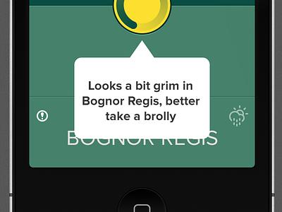 Bognor Brolly weather climacons bognor regis not a weather app