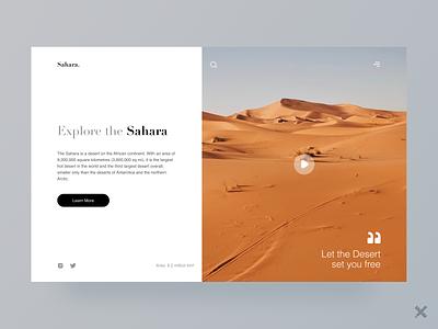 Sahara Desert Landing Page minimal sahara desert product web website webdesign landing page uiux design uiux ux graphic design ui branding clean colors design dribbble best shot dribbble