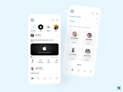 LinkedIn Redesign ux design ui design uiux design app graphic design design mobile social app linkedin product minimal clean dribbble best shot dribbble redesign app design uxui uiux ux ui