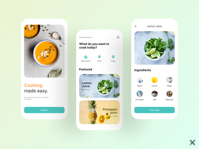Recipe App Design typography app design recipe mobile app colors food app recipe app minimal design dribbble best shot dribbble clean product mobile uxdesign uidesign uiux uxui ux ui