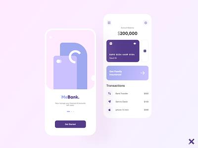MeBank App Design bank app app payment app fintech typography illustration design dribbble best shot dribbble product minimal clean uxui uiux uxdesign uidesign ux ui