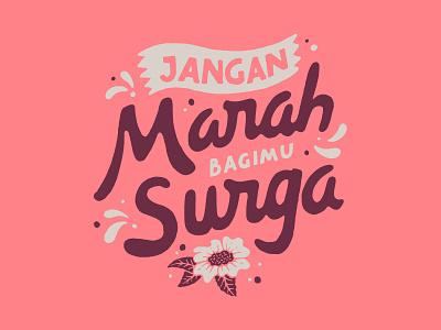 Jangan Marah branding inspiration vintage handlettering merch design typography skitchism t-shirt lettering illustration