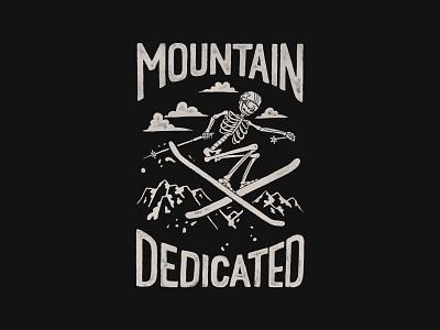 Mountain Dedicated handlettering branding inspiration vintage merch design typography skitchism t-shirt lettering illustration