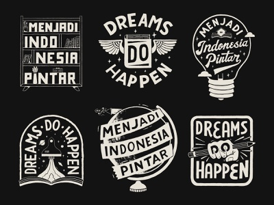 Dreams Do Happen handlettering branding inspiration vintage merch design typography skitchism t-shirt lettering illustration