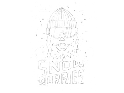 Snow Worries branding handlettering vintage inspiration merch design typography skitchism t-shirt lettering illustration