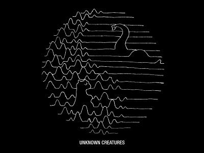 Unknown Creatures joy division black white skitchman lochness dinosaur