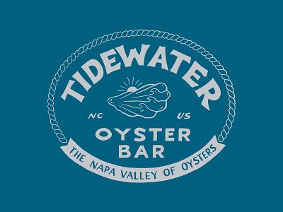 Tidewater Oyster Bar handlettering branding inspiration vintage merch design typography skitchism t-shirt lettering illustration
