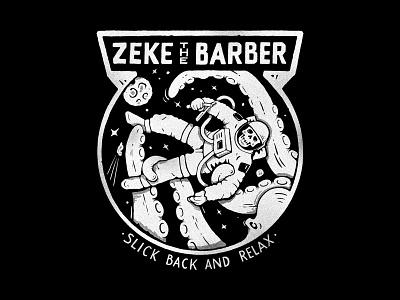 Zeke The Barber handlettering branding inspiration vintage merch design typography skitchism t-shirt lettering illustration