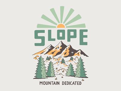 Slope Mountain Gear handlettering branding inspiration vintage merch design typography skitchism t-shirt lettering illustration