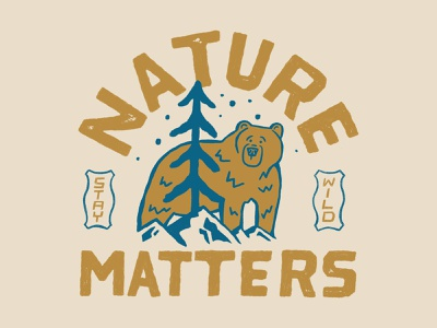 Nature Matters handlettering branding inspiration vintage merch design typography skitchism t-shirt lettering illustration