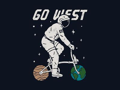 Go West handlettering branding inspiration vintage merch design typography skitchism t-shirt lettering illustration