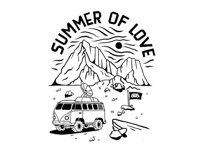 Summer Of Love handlettering branding inspiration vintage merch design typography skitchism t-shirt lettering illustration
