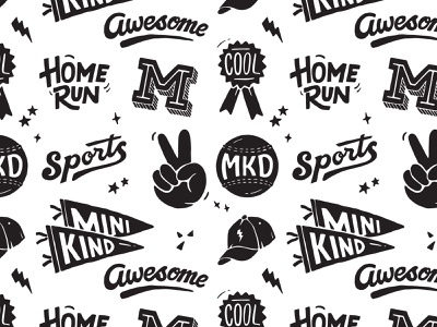 Minikind Pattern handlettering branding inspiration vintage merch design typography skitchism t-shirt lettering illustration