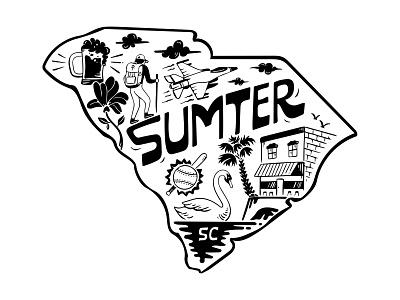 Sumter handlettering branding inspiration vintage merch design typography skitchism t-shirt lettering illustration