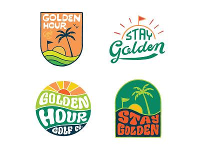 Golden Hour Sticker Pack skitchman merch handlettering branding inspiration vintage merch design typography skitchism t-shirt lettering illustration