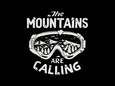 The Mountains are Calling handlettering branding inspiration vintage merch design typography skitchism t-shirt lettering illustration