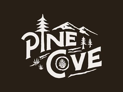 Pine Cove handlettering branding inspiration vintage merch design typography skitchism t-shirt lettering illustration