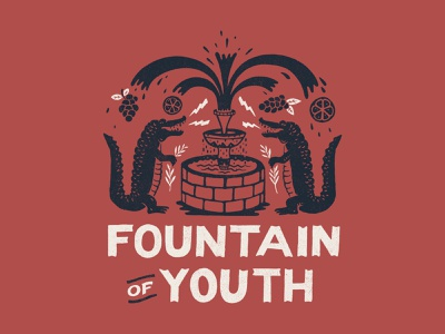 Fountain of Youth handlettering branding inspiration vintage merch design typography skitchism t-shirt lettering illustration