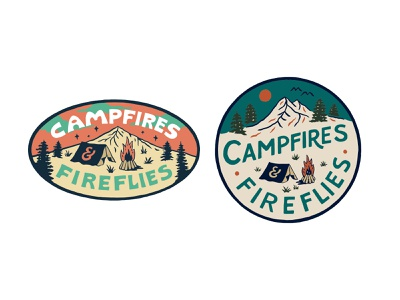 Campfires & Fireflies handlettering branding inspiration vintage merch design typography skitchism t-shirt lettering illustration