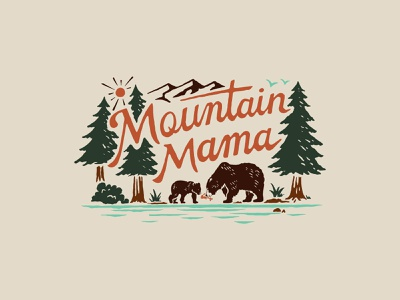 Mountain Mama handlettering branding inspiration vintage merch design typography skitchism t-shirt lettering illustration