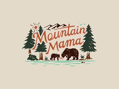Mountain Mama handlettering branding inspiration vintage merch design typography skitchism t-shirt lettering illustration
