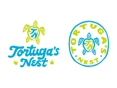 Tortuga's Nest vintage t-shirt handlettering skitchism logo branding merch design typography lettering illustration