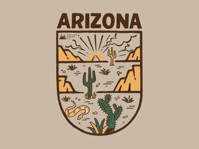 Arizona clothing brand vintage merch design merch typography skitchism t-shirt lettering illustration