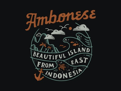Ambonese branding inspiration handlettering merch design merch typography skitchism t-shirt lettering illustration