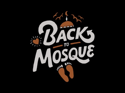 Back To Mosque handlettering vintage merch design inspiration merch typography skitchism t-shirt lettering illustration