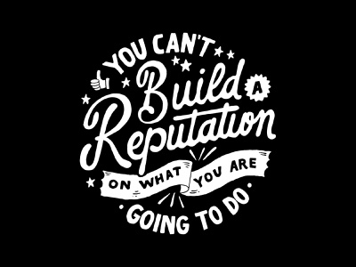 Build A Reputation branding handlettering vintage merch design merch typography skitchism t-shirt lettering illustration