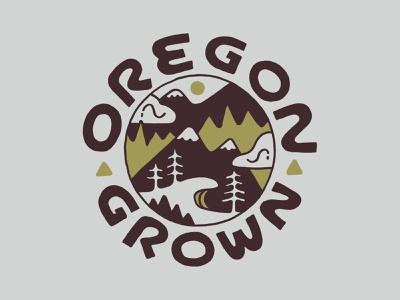 Oregon Grown inspiration vintage handlettering branding merch design typography skitchism t-shirt lettering illustration