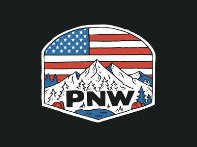 PNW Flag branding handlettering inspiration merch merch design typography skitchism t-shirt lettering illustration