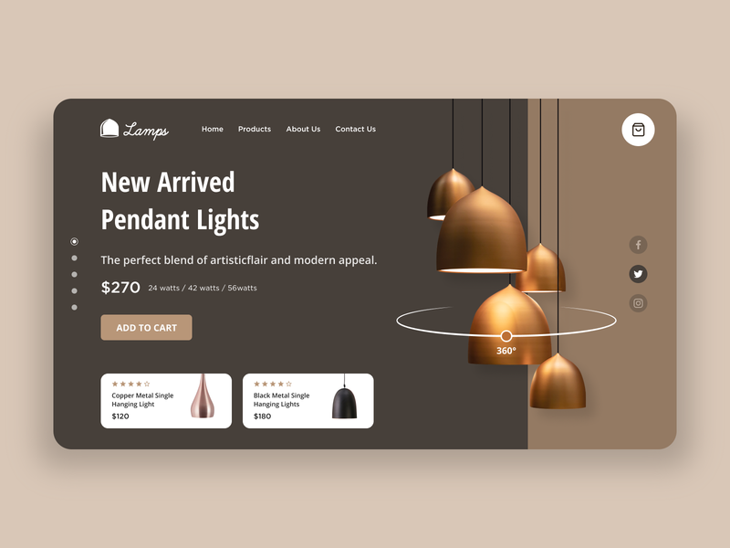 Modern Lamp Store 360 view store ecommerce figma lamps interfacedesign webdesign website design dribbble interaction design ux ui