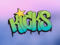 Kicks Graffiti Logo
