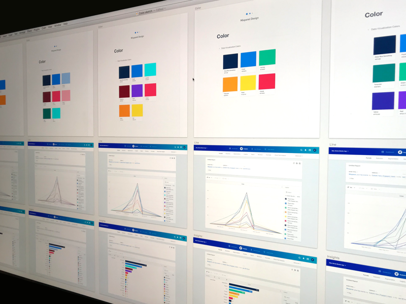Mixpanel Color data-viz data dataviz artboard pattern style guide exploration process palette color ux ui