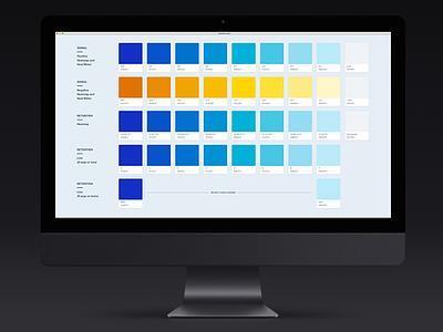 Heatmap Color design product data visualization dataviz heatmaps swatches color user experience ux user interface ui