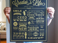 Rules of a Creator's Life Poster