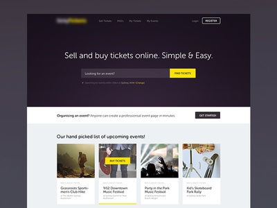 Tickets Homepage
