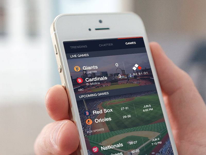 Fanvana MLB trending ux ui sports feed notch mobile baseball ios app iphone