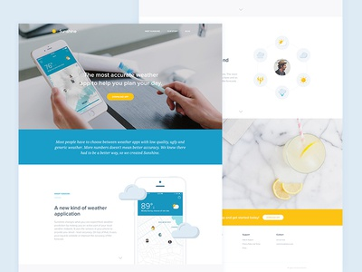 Sunshine Website - Live web illustration iphone ios homepage branding marketing landing page notch ux ui website