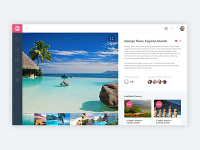 Location Detail notch website travel cruise ux ui web application web app