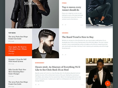 Manstand Continued feed entertainment style branding notch ux ui magazine application web website