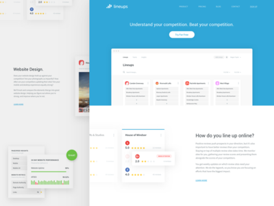Lineups Homepage app website branding application product feature notch ux ui landing page homepage