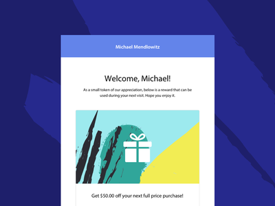 Promo Email Template flat branding illustration template email notch ux ui coupon promotion