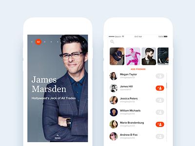 ManStand Mobile home discover branding notch ux ui app ios mobile